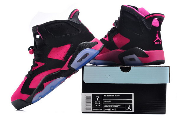 Air Jordan 6 For Women Shoes Black/pink